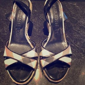 Size 8 authentic Burberry sandals lightly used